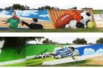 Sportwand der Universität Magdeburg